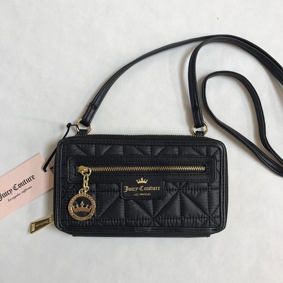 372fdc504d Juicy Couture Crown Jewel Black Crossbody Wallet